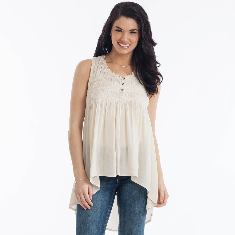 L Love Sleeveless Babydoll Top