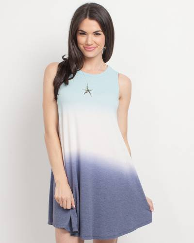 Exclusive Ombre Dress in Blue and Mint