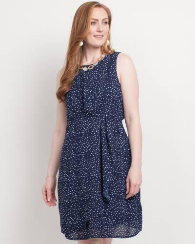 Exclusive Polka Dot Dress in Navy