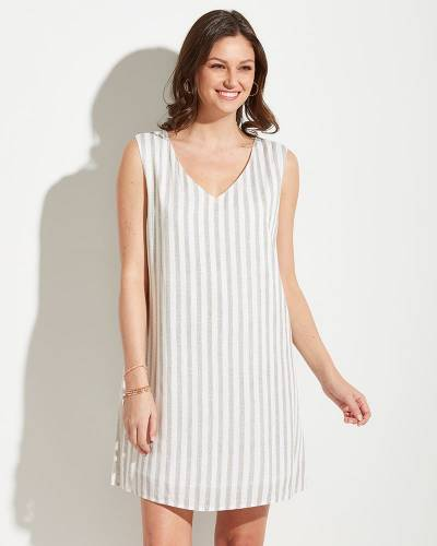 Exclusive Vertical Stripe Dress