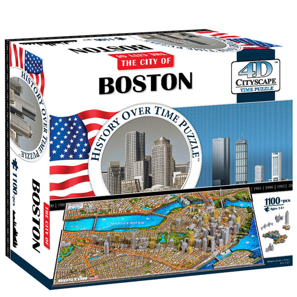 4D Cityscape The City of Boston 4D Puzzle