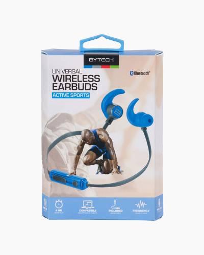 Universal Wireless Sport Earbud Headphones in Blue