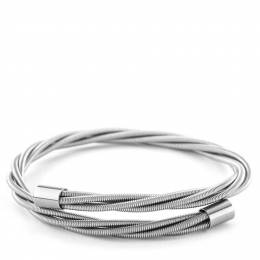 Wear Your Music Simply SIlver Thick Guitar String Bracelet
