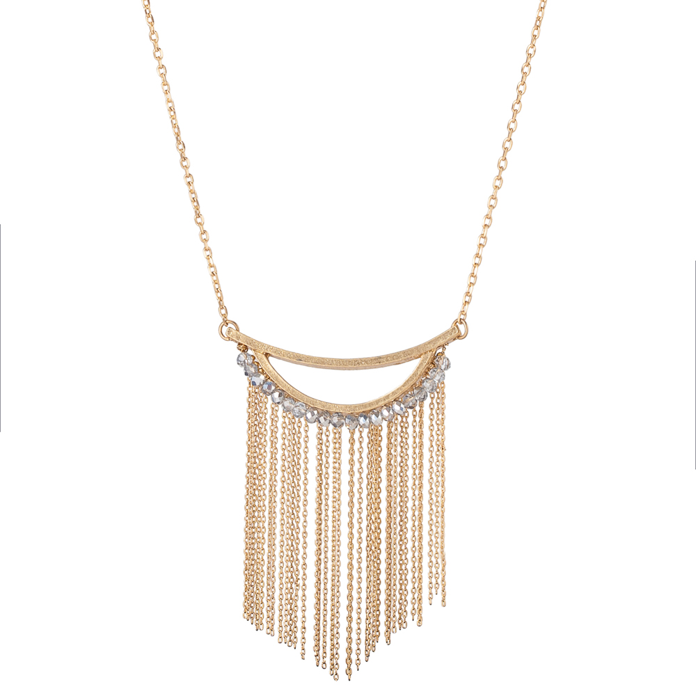 The Paper Store Fringe Necklace