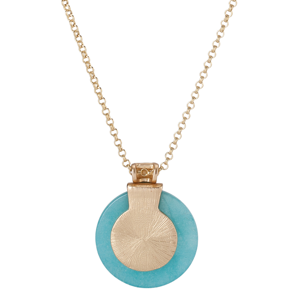 The Paper Store Stone Disc Necklace