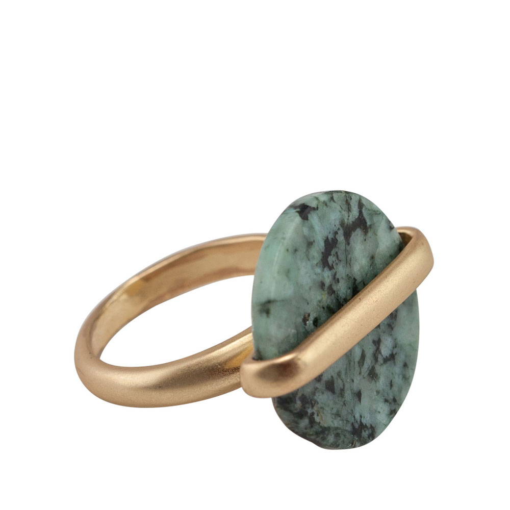 Mia and Tess Stone Circle Ring in Mint