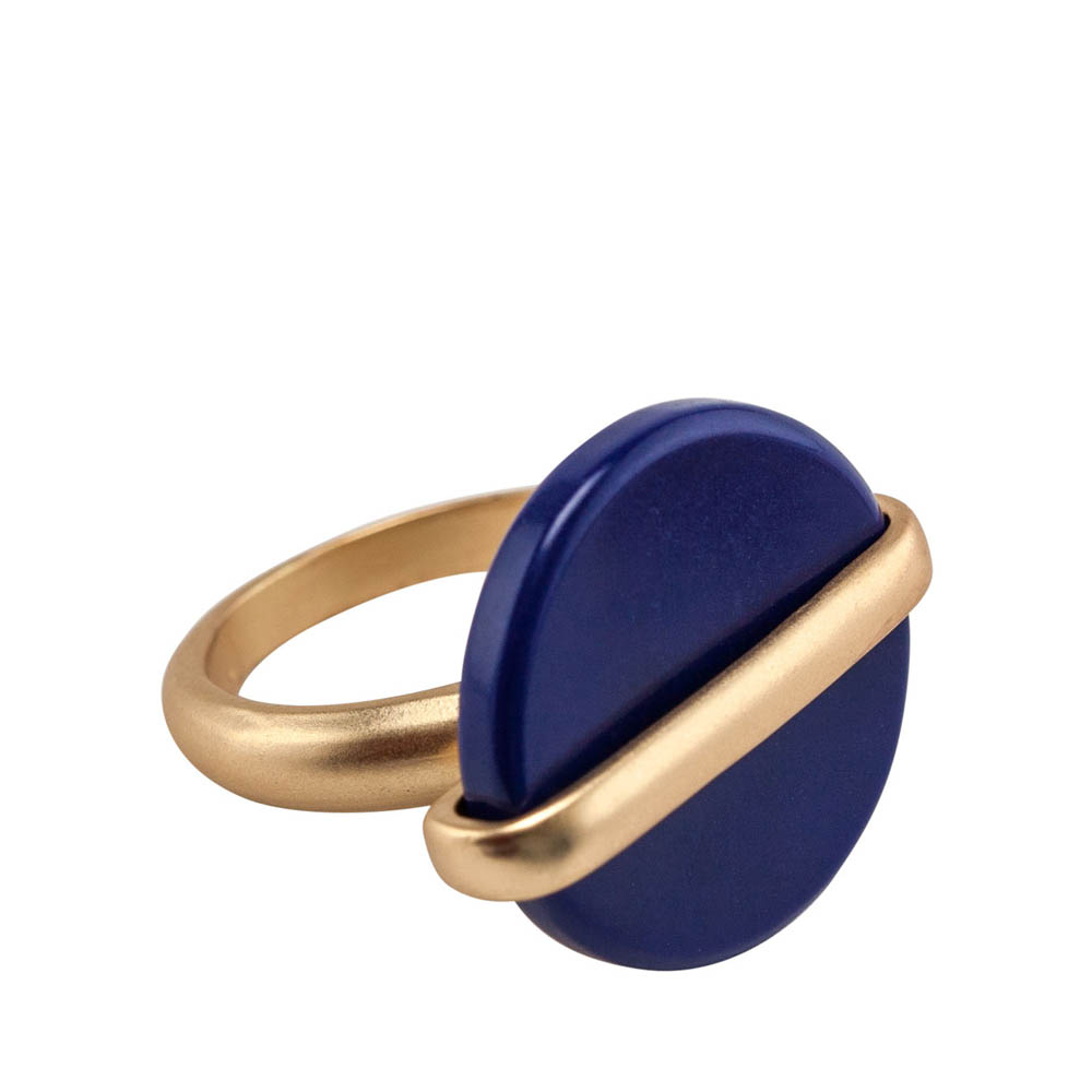 Mia and Tess Stone Circle Ring in Blue