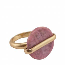 Mia and Tess Stone Circle Ring in Pink