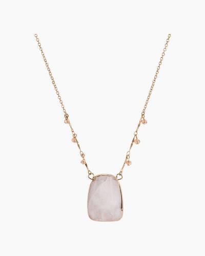 Mid-Length Jade Necklace in Rose Quartz