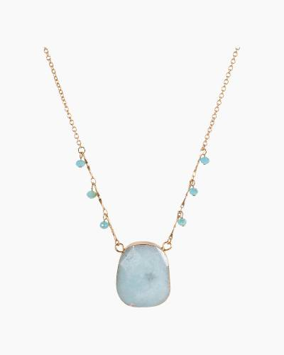 Mid-Length Jade Necklace in Mint