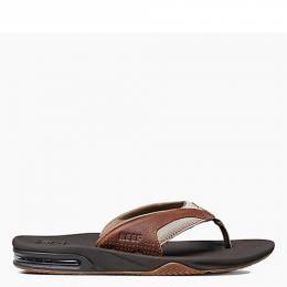 Reef Men's Leather Fanning Sandals in Brown