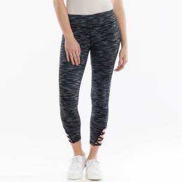 mono b Active Capri Leggings in Black Space-Dye