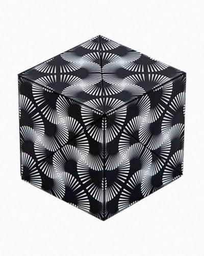 Black and White Shashibo Fidget Toy