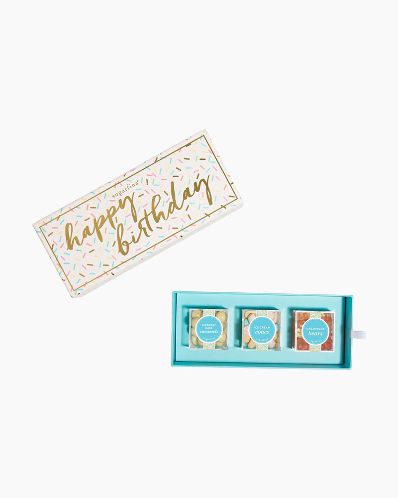 Sugarfina Happy Birthday Bento Box Candies (3-Piece)
