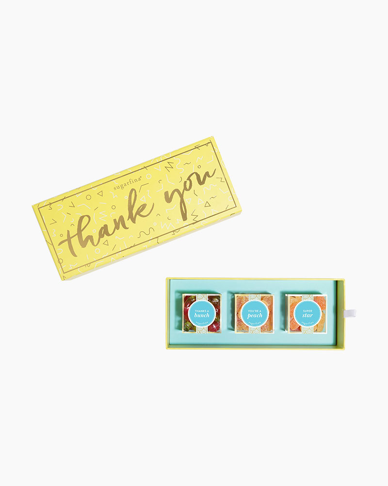 Sugarfina Thank You Bento Box Candies (3-Piece)