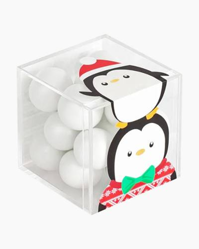 Party Penguins Holiday Character Candy Cube