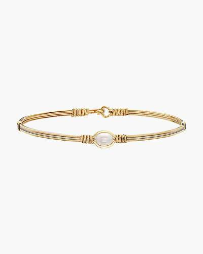 The Pearl of My Heart Bracelet in 14k Gold Artist Wire