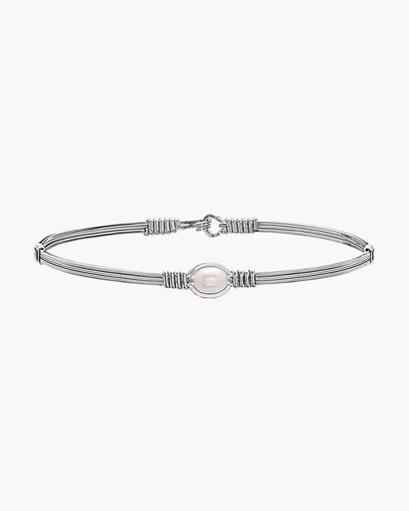 Ronaldo Designer Jewelry The Pearl of My Heart Bracelet in Argentium Silver