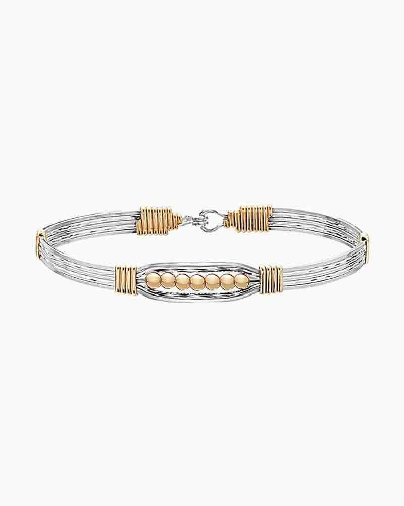Ronaldo Designer Jewelry The Power of Prayer Bracelet in Sterling Silver and 14k Gold