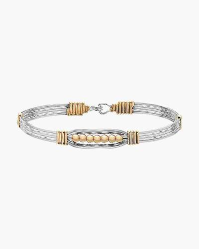 The Power of Prayer Bracelet in Sterling Silver and 14k Gold Artist Wire