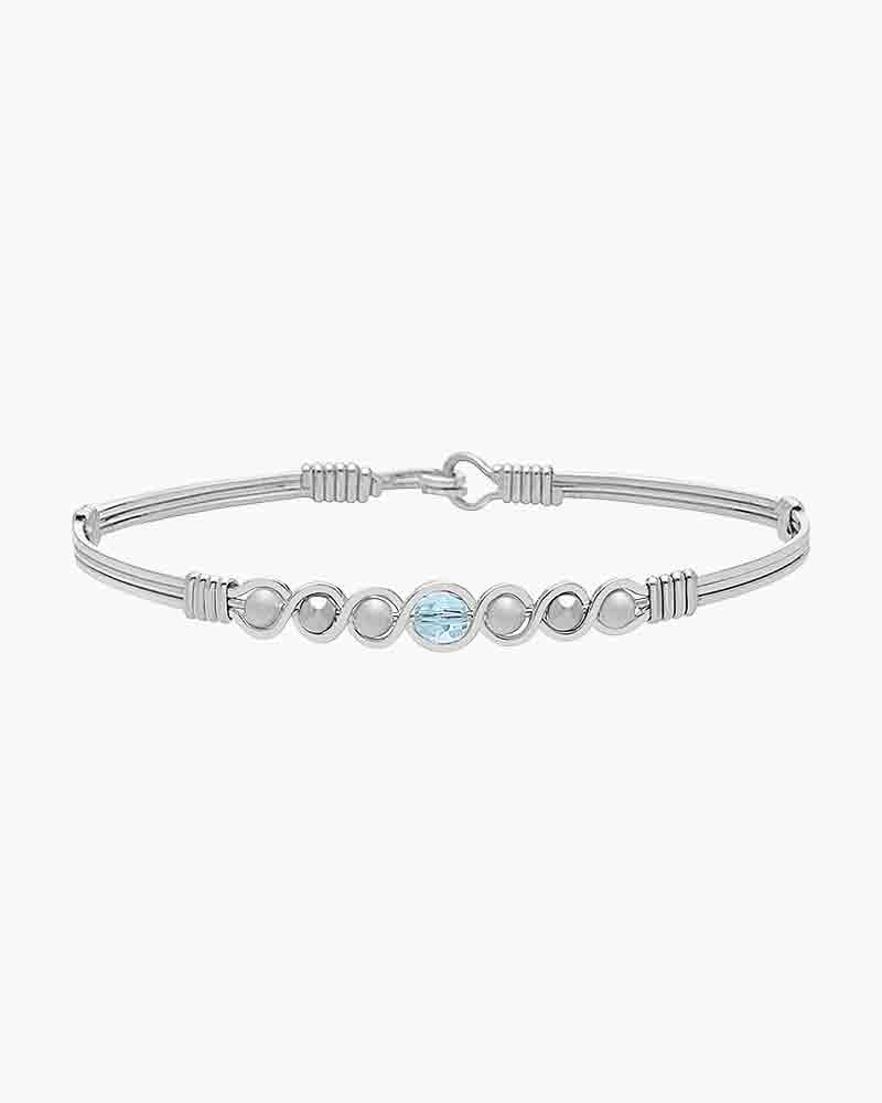Ronaldo Designer Jewelry Divine Plan Bracelet In Silver With Sky Blue Topaz The Paper Store