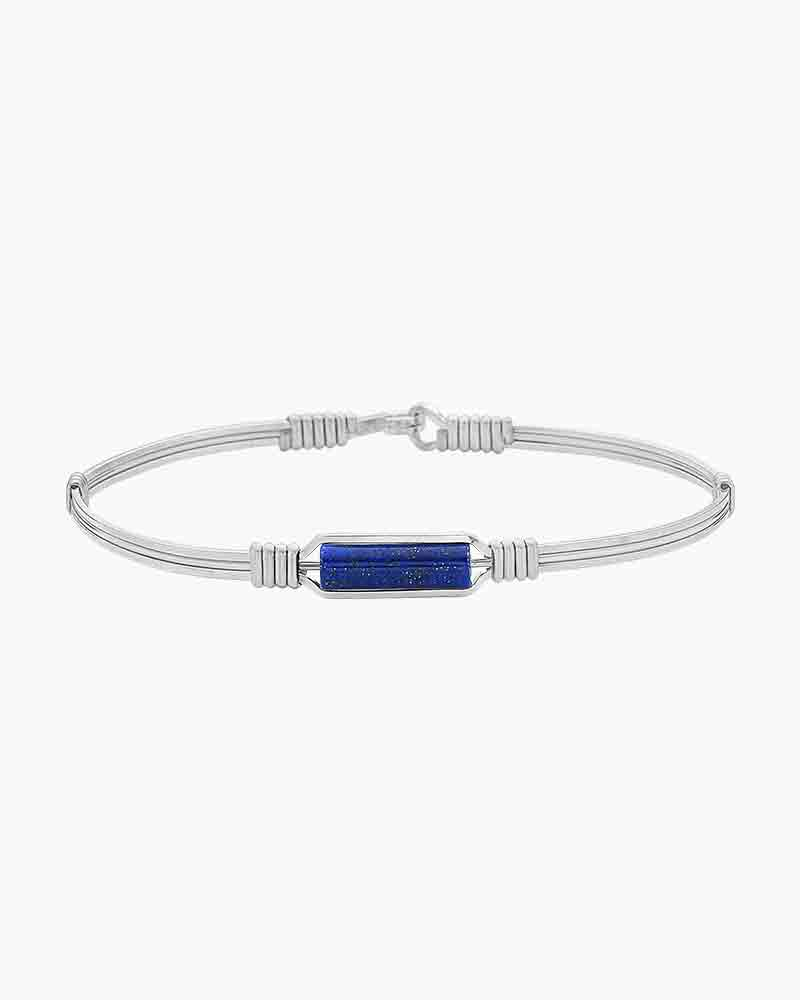 Ronaldo Designer Jewelry A Moment In Time Lapis Bracelet In Silver The Paper Store