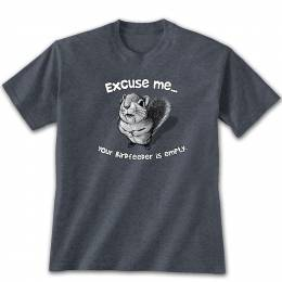 Earth Sun Moon Men's Excuse Me Squirrel Graphic Tee