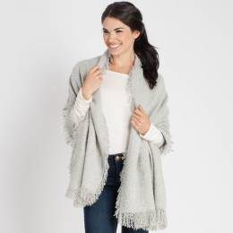 Jasmine Trading Corp. Heathered Blanket Scarf in Grey