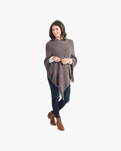Sequin Poncho in Grey