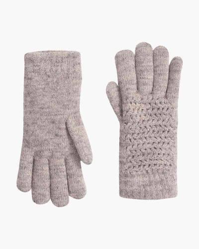 Fuzzy Knit Gloves in Camel