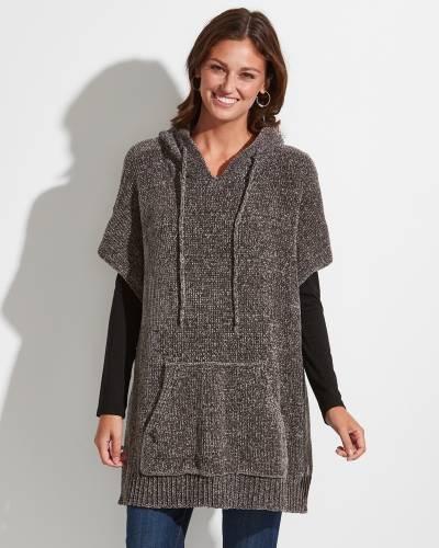 Chenille Hoodie in Grey
