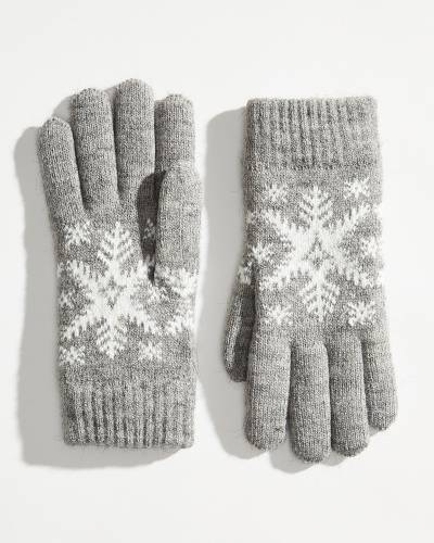 Exclusive Fuzzy-Lined Snowflake Gloves