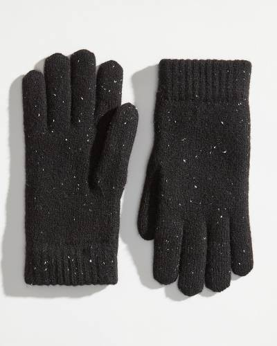 Exclusive Fuzzy-Lined Speckled Gloves