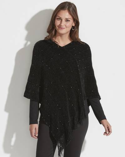 Exclusive Chenille Sequin Poncho