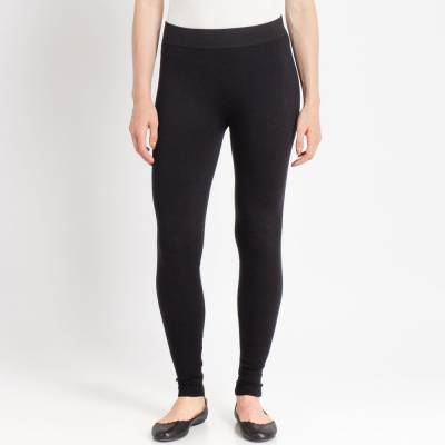 French Terry Leggings in Black