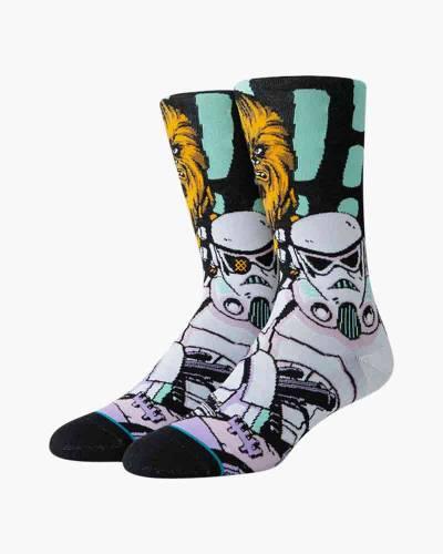 Warped Chewbacca Star Wars Men's Crew Socks