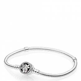 Pandora Poetic Blooms Bracelet in Mixed Enamels and Clear CZ