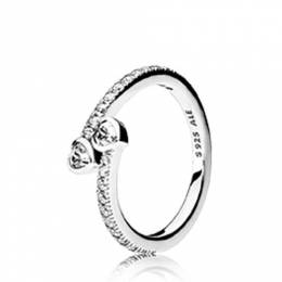Pandora Forever Hearts Ring in Clear CZ