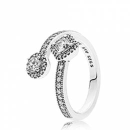 Pandora Abstract Elegance Ring in Clear CZ