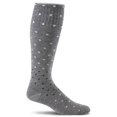 Women's On the Spot Compression Socks in Charcoal
