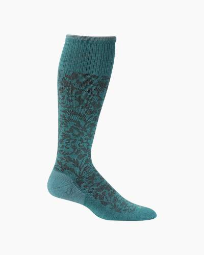 Women's Damask Compression Socks in Mineral