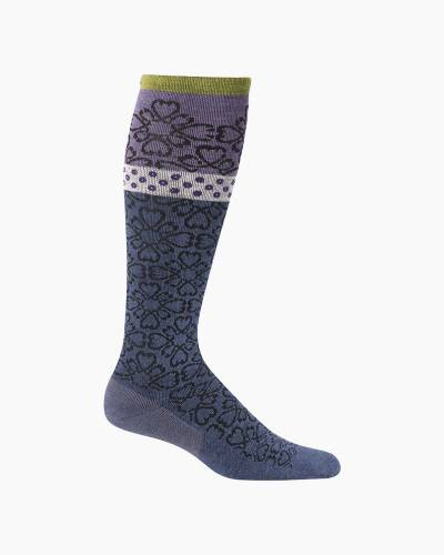 Women's Botanical Compression Socks in Denim Blue