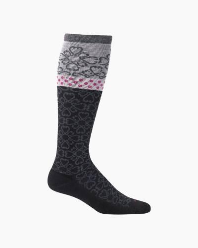 Women's Botanical Compression Socks in Black