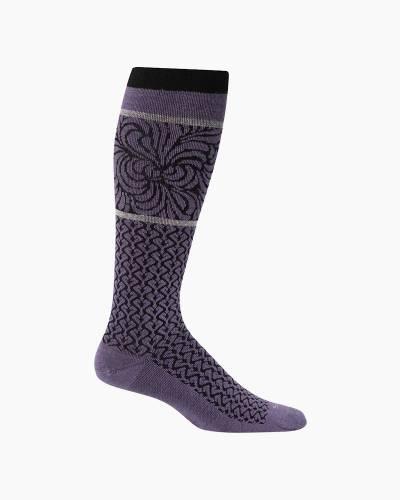 Women's Art Deco Compression Socks in Plum