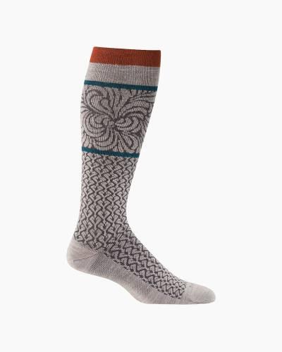 Women's Art Deco Compression Socks in Barley