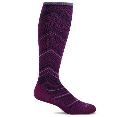 Women's Full Flattery Compression Socks in Violet
