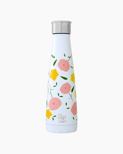 S'ip 15 oz. Stainless Steel Water Bottle in Poppy Culture