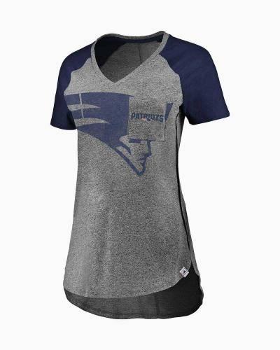 New England Patriots Women's Static Pocket Raglan Tee
