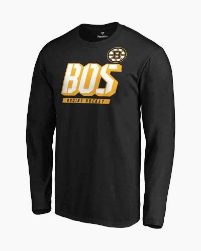 Men's Boston Bruins Iconic Tricode Logo Long Sleeve Tee