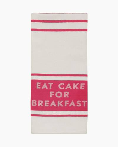 Diner Stripe Kitchen Towel in Pink